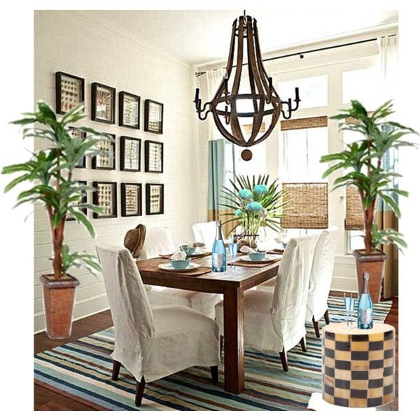 "Inspiration ""TROPICAL DINING ROOM"" by czarabella on Polyvore"