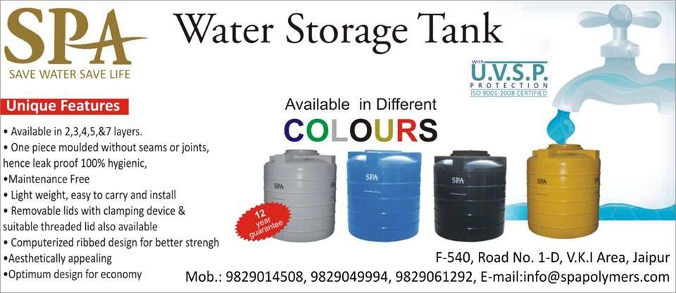 Spa Polymers Water Storage Tank Water Storage Tanks Water Storage Storage Tank