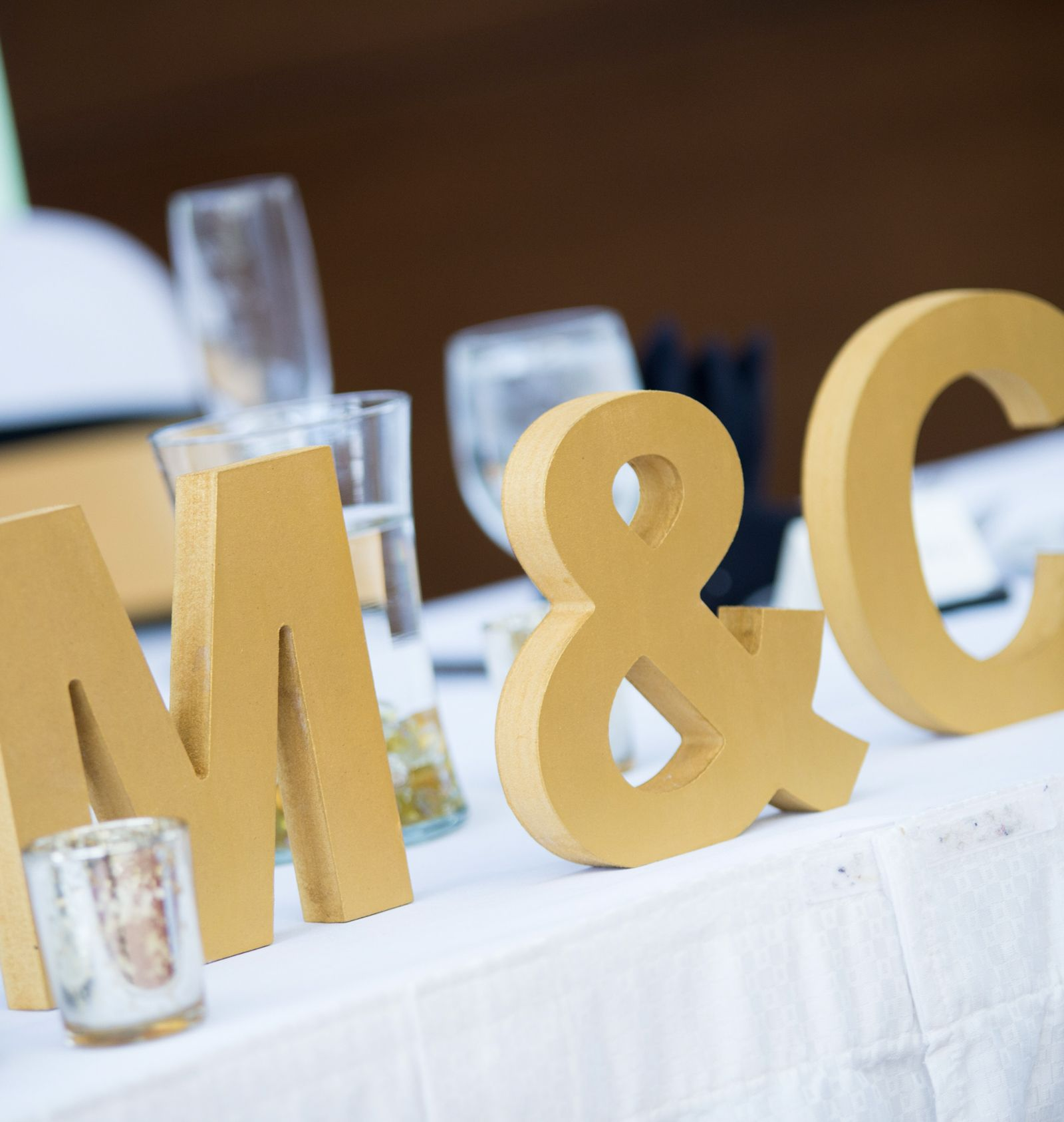 Homemade wedding decoration ideas  Wooden Letters Initials Sign Set for Wedding Table Decor  Handmade