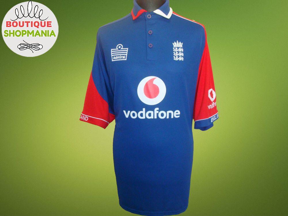 England National 2006 Admiral Xl Embroidered Vodafone Cricket Shirt Jersey Ebay England National England Cricket Team Shirts