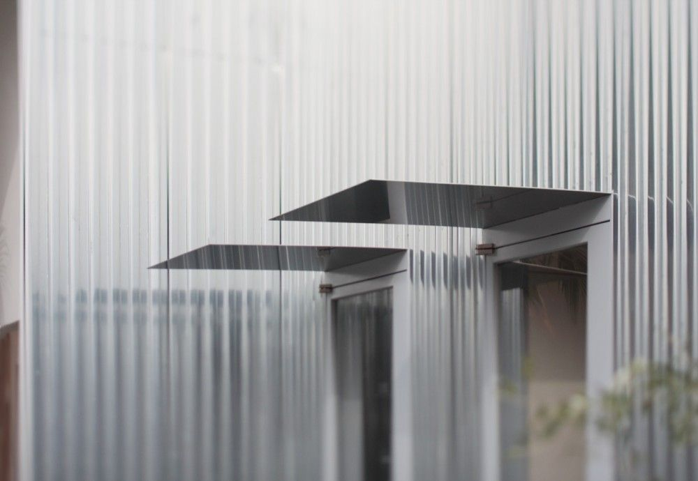 Stainless Steel Metal Cladding : Airy house ikimono architects metal cladding