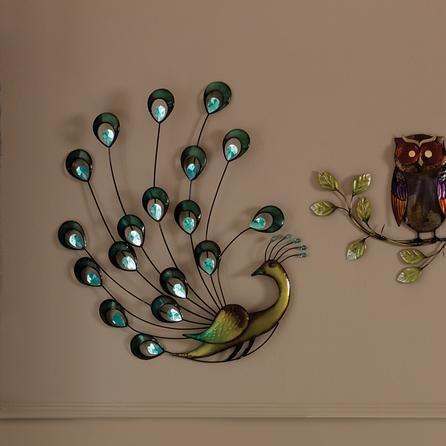 Jewel Peacock Metal Wall Art Dunelm Animacion Hogar
