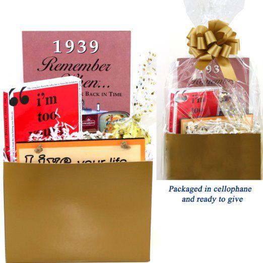 75th Birthday Gift Basket