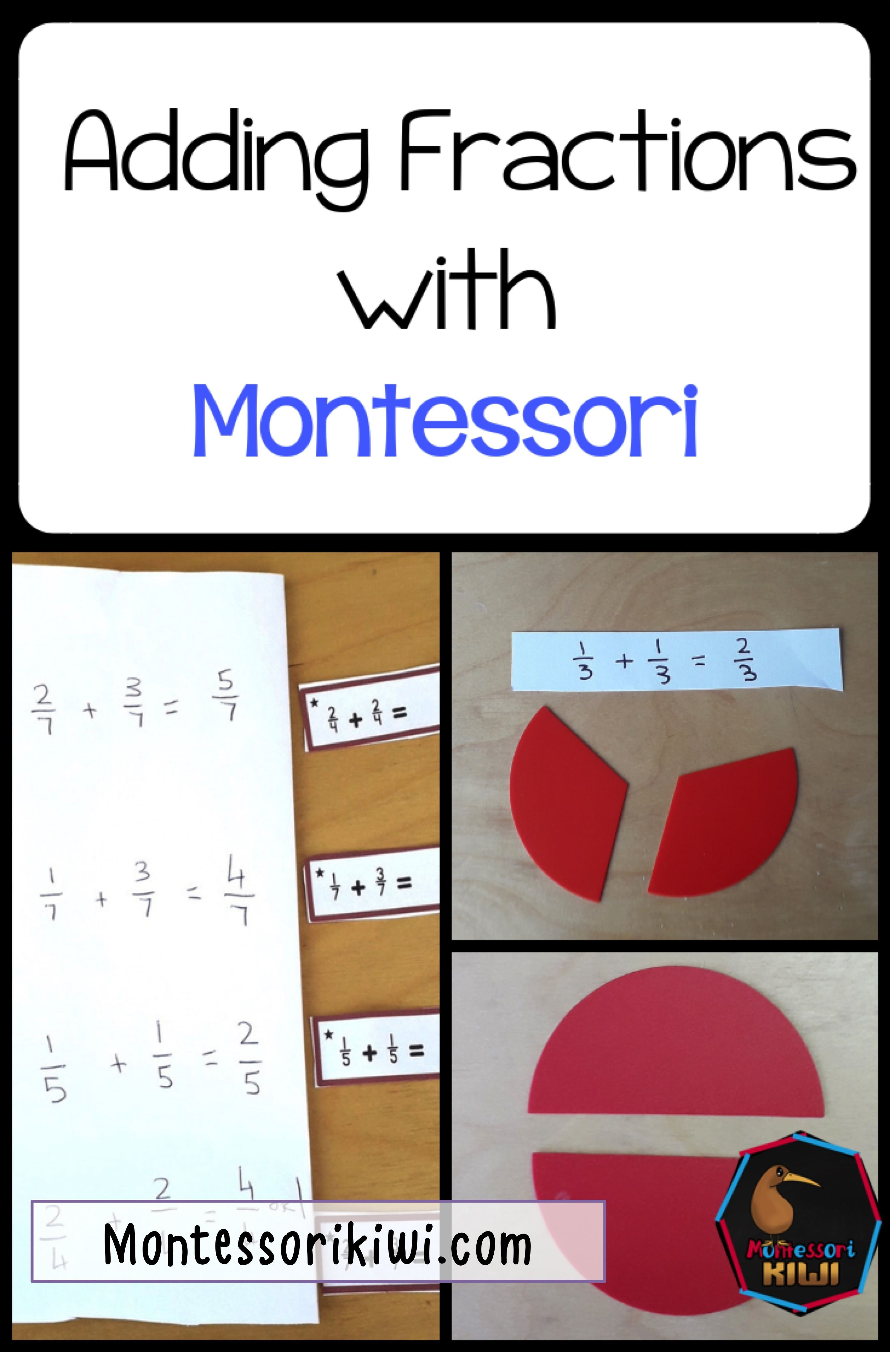 How To Teach Fractions With Montessori Equipment Addition Of Fractions Addition Worksheets Learning Fractions [ 4522 x 2998 Pixel ]