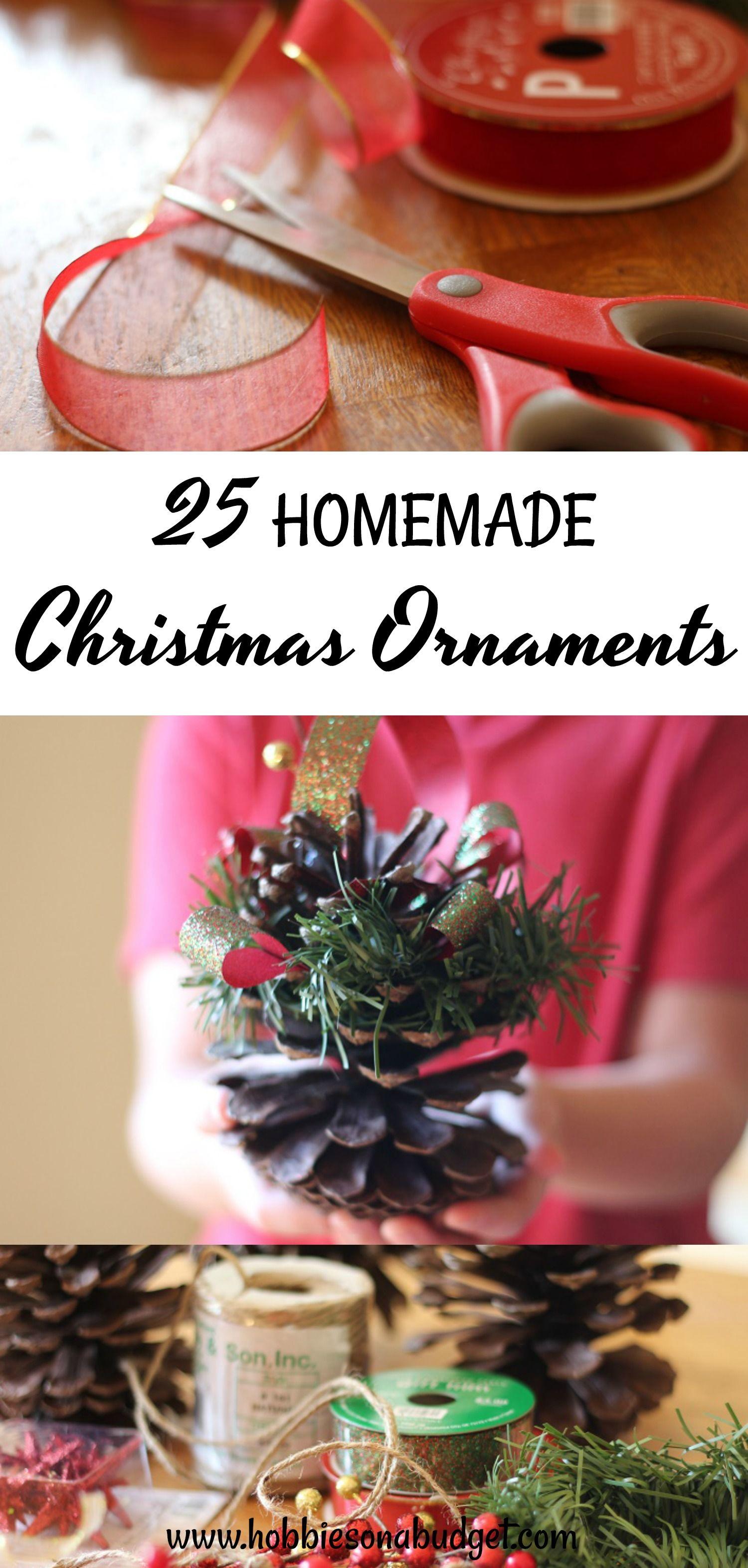 25 Homemade Christmas Ornaments