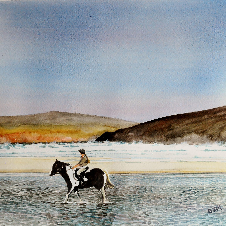 Drumnatinney Strand, near Falcarragh, County Donegal. Ireland. Watercolour
