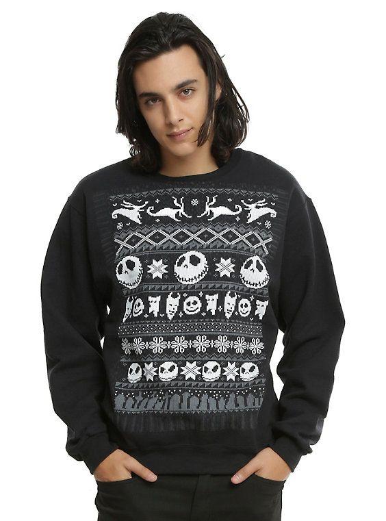 Tim Burton Christmas Jumper.The Nightmare Before Christmas Fair Isle Sweatshirt 衣類