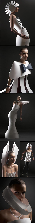 Paper Dresses by Ilya Plotnikov and Alexandra Zaharova (aka Doberman Studio) - High-end #Fashion