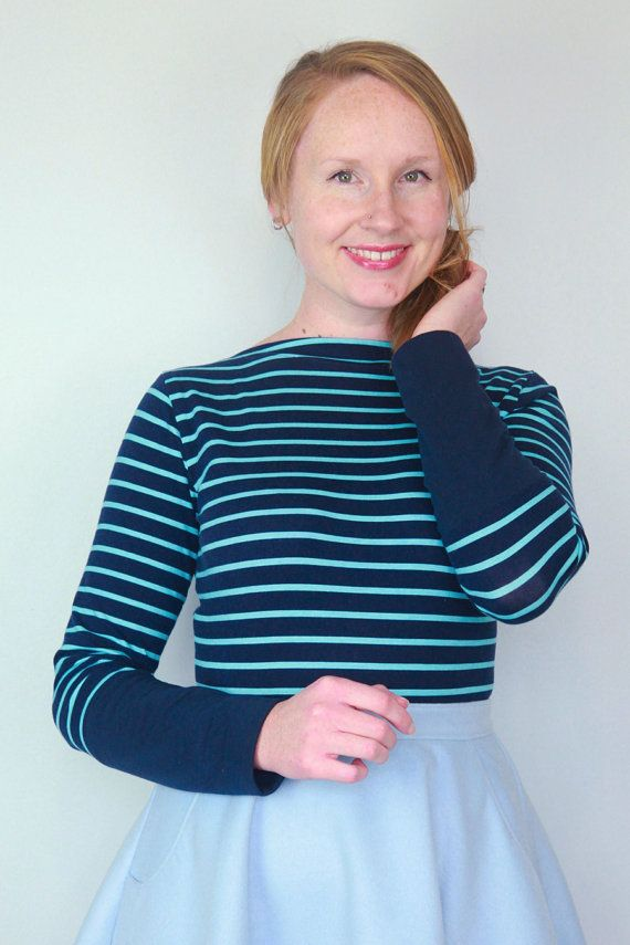 The Gable Knit Top Slash Neckline Women\'s PDF Sewing Pattern Size 6 ...