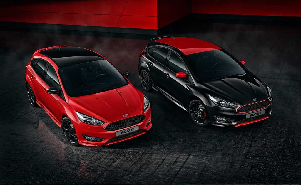 Ford Focus Red Edition And Black Edition Available For Order In Europe With Images Ford Focus Ford Motorsport Ford Focus St