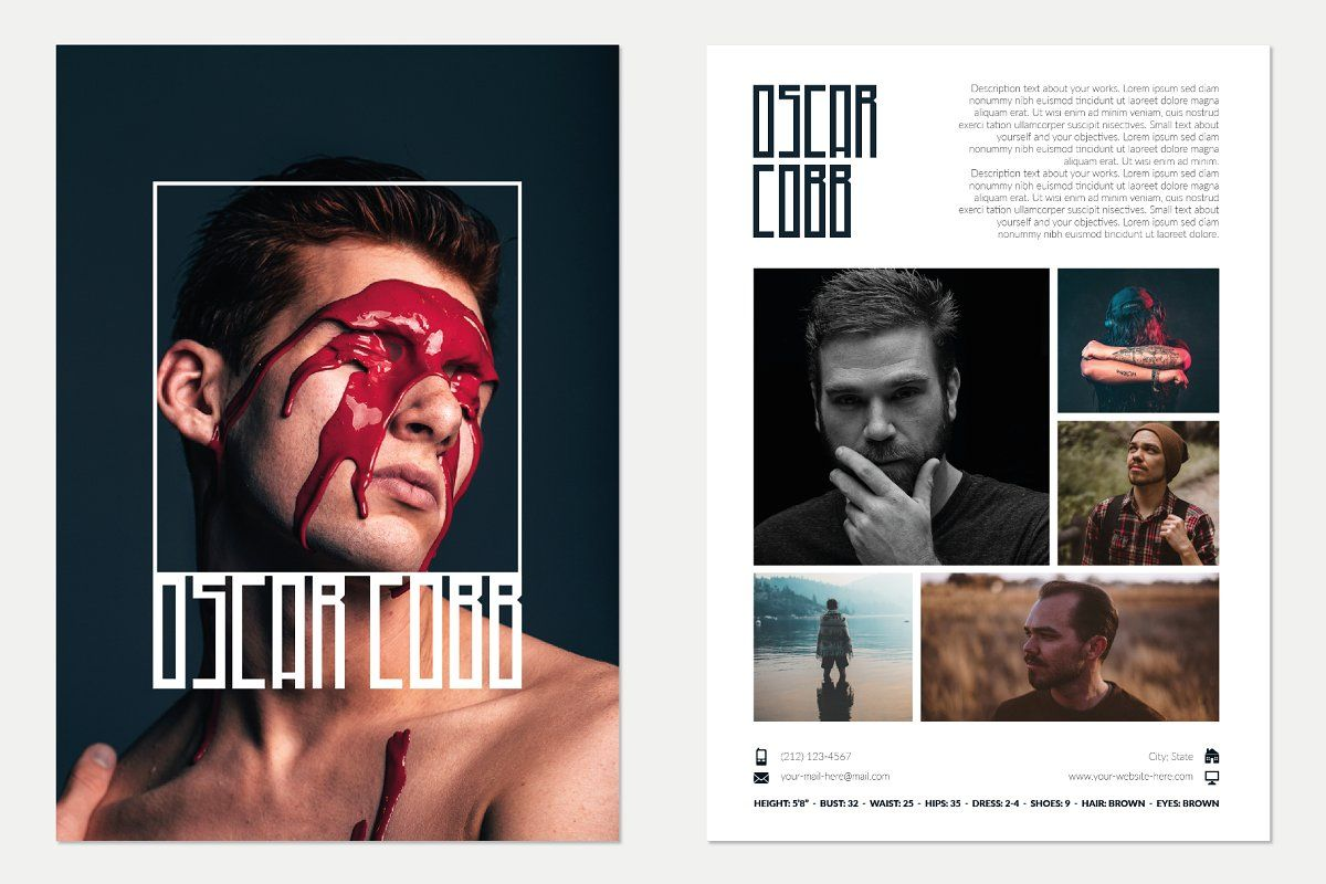 Fashion magazine template 16 pages in 2020 model comp