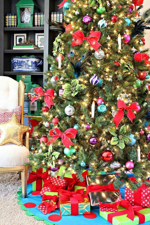 jewel tone christmas tree decorations tree decorations christmas tree and decoration - Jewel Colored Christmas Decorations