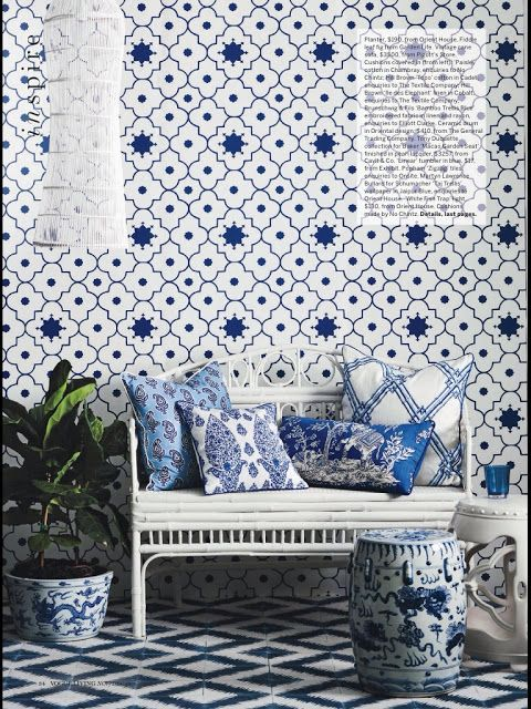 South S Decorating Blog Gorgeous Mix Of Moroccan And Chinese In Blue White