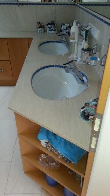 Waschbecken im Badezimmer Baderäume (bathrooms) Pinterest