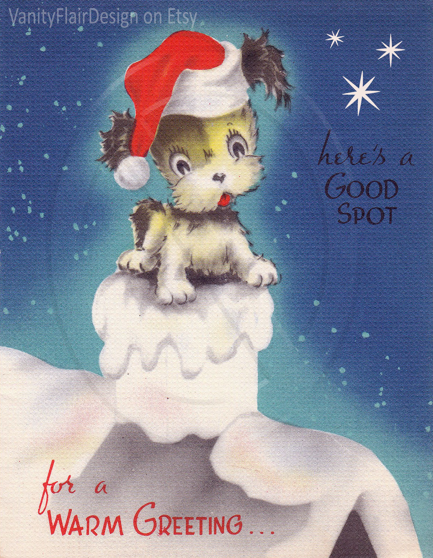 "150 Digital Retro Vintage Christmas Card Fronts Each Card 10"" Long"