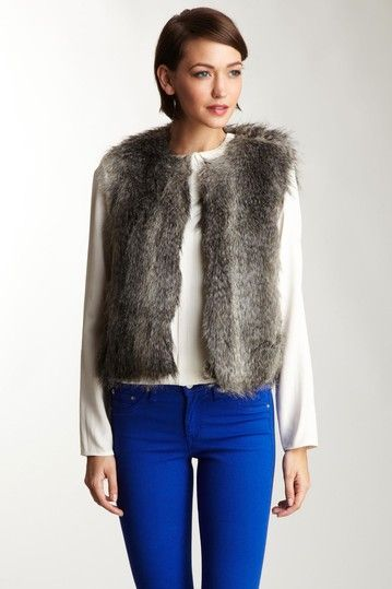 Steve Madden Faux Fur Vest by Blowout on @HauteLook