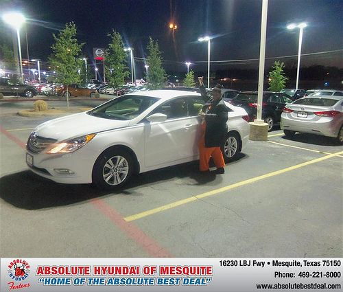 Absolute Hyundai would like to say Congratulations to Valerie Turner on the 2013 Hyundai Sonata
