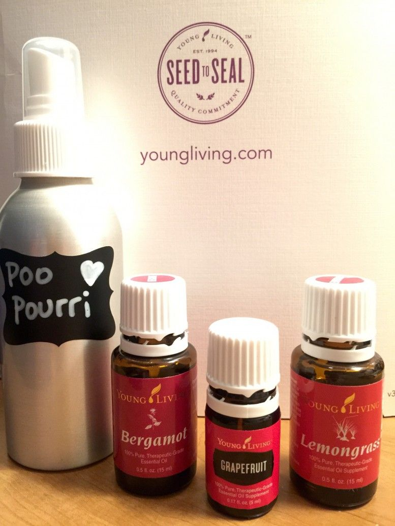 diy poo pourri using young living essential oils. essentially loved