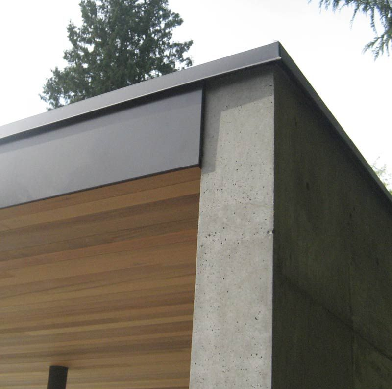 Thompson Cedar Soffit And Siding Home Building In Vancouver Pool House Designs House Exterior Cedar Roof