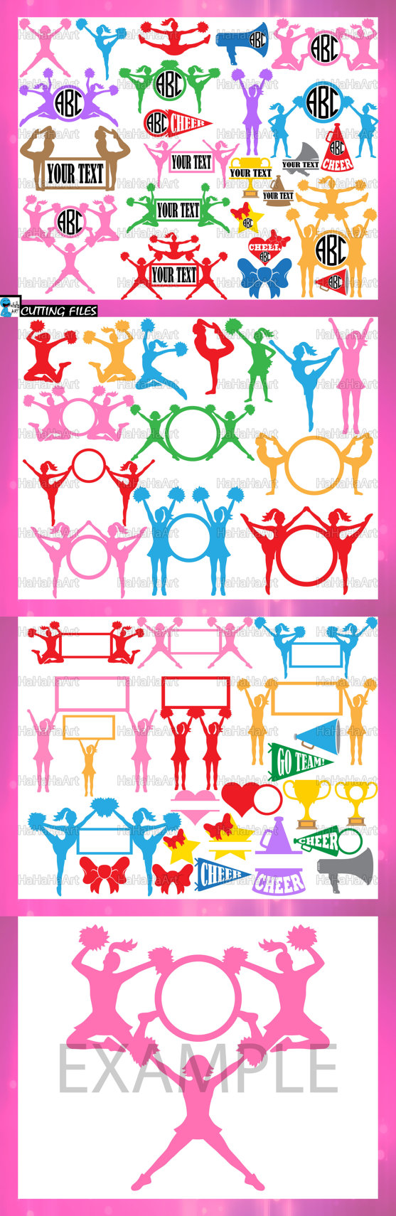 Cheer V4 Clipart Cutting Files svg png dxf eps digital
