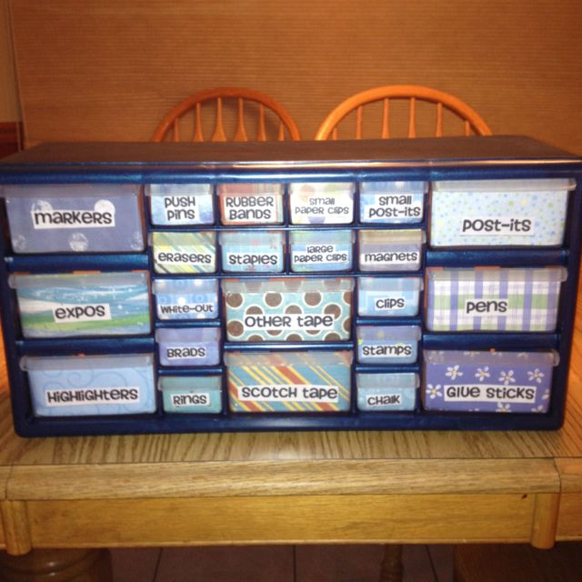 Supply organizer! Bought it at Lowes (22 drawer storage ...