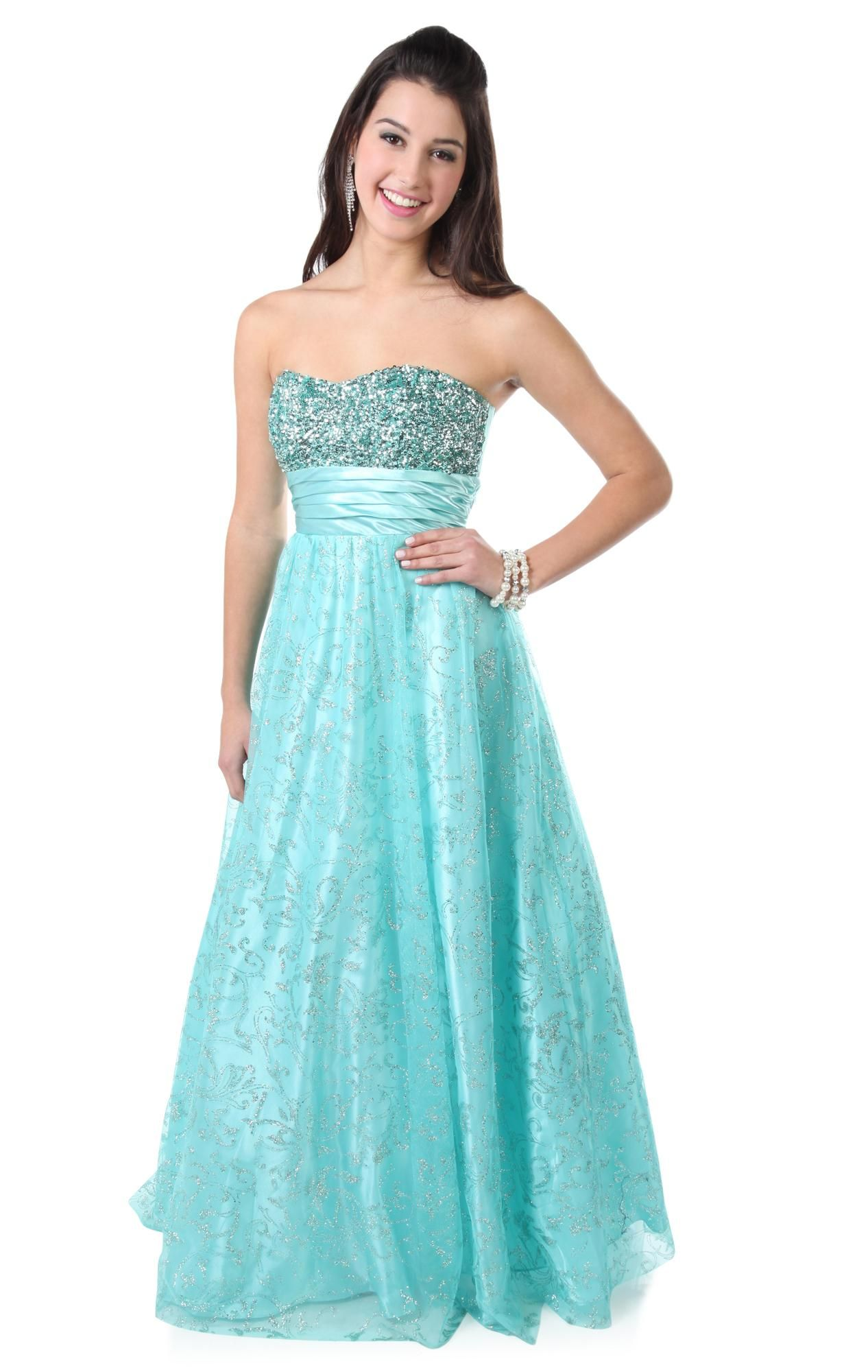 Deb Shops fit and flare #glitter mesh #prom #dress | Prom <3 ...