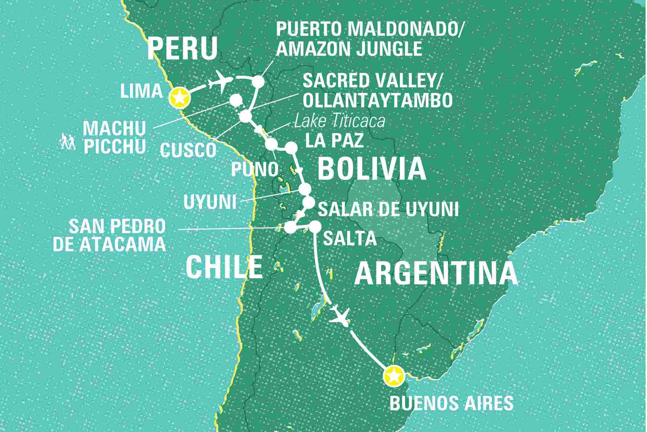 Highlights of South America Peru tours Geckos Adventures GB