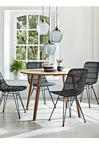 41 Unique Wicker Rattan Living Room Furniture In 2020 Rattan Dining Chairs Dining Table Black Oak Dining Table