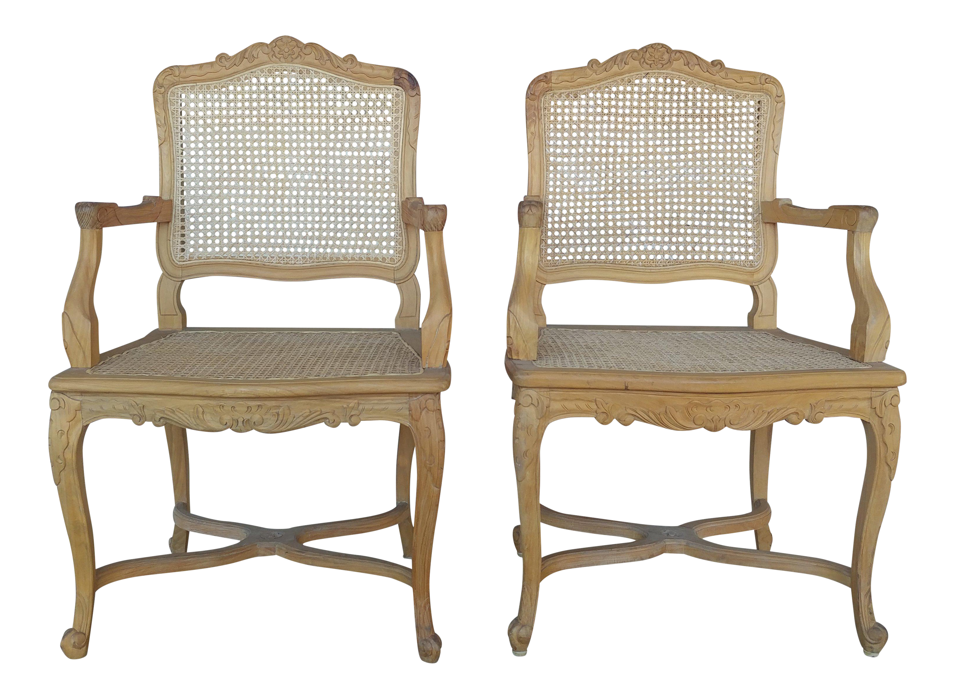 french cane chair. French Cane Arm Chairs - Set Of 2 Chair R