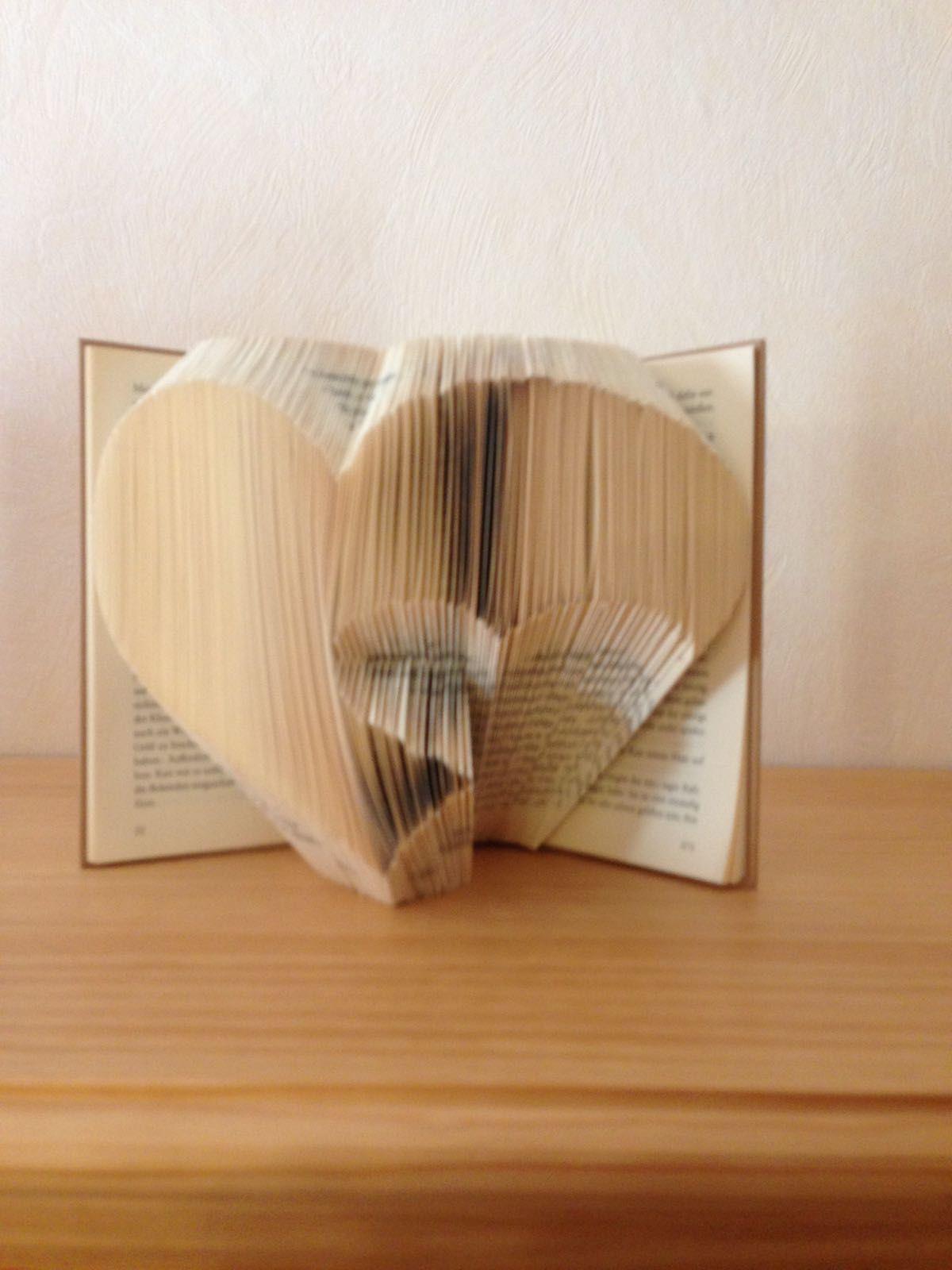 Bücher Falten Doppelherz Pins Von Meinem Blog