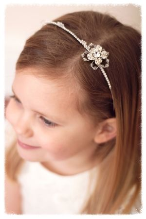 This beautiful hair band is idea for a little flower girl or bridesmaid and  looks beautiful 78e6eb1c83a