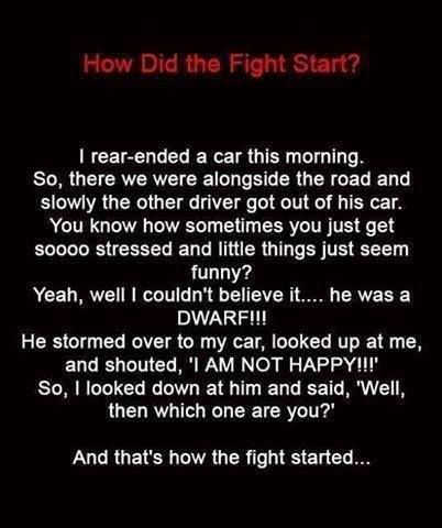 And, that's how the fight started… ;)