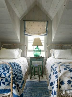 Beds quilts white wash Coastal Decorating Ideas - Beach Cottage
