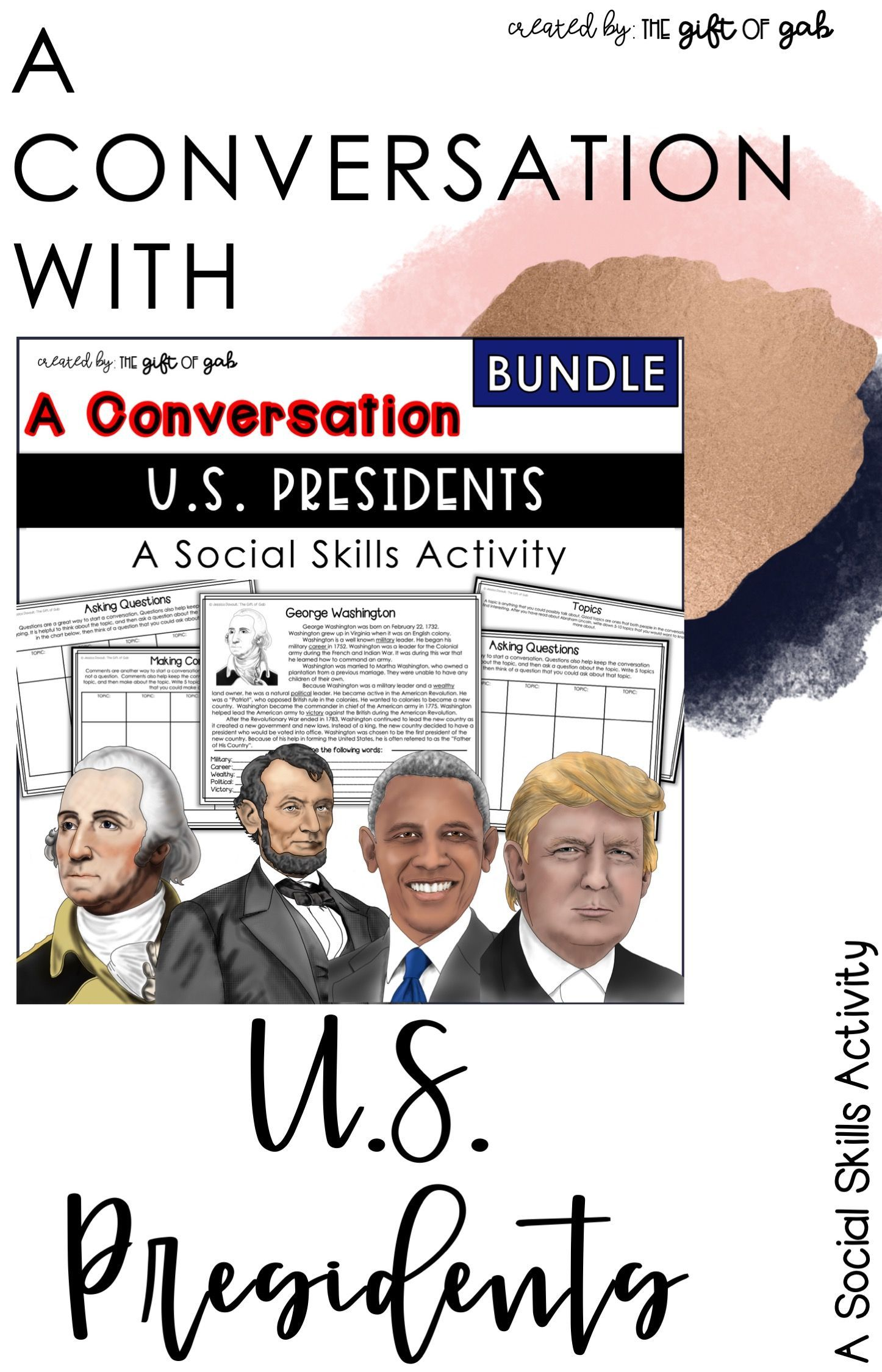 President S Day Speech Therapy Conversation Activities In