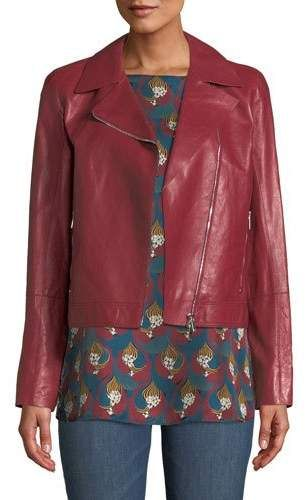 f0ffceee427 Lafayette 148 New York Mary-Kate Weightless Glazed Lambskin Leather Jacket