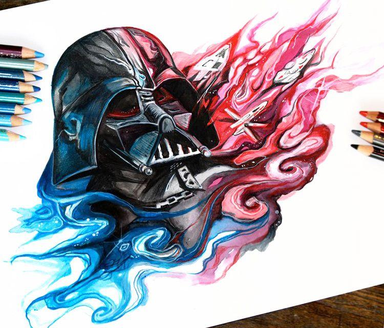 Katy Lipscomb Art Katy Lipscomb Art Darth Vader Color