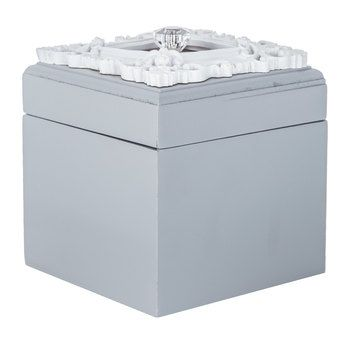 Hobby Lobby Decorative Boxes Hobby Lobby  Gray Box With Ornate White Frame  Housewarming