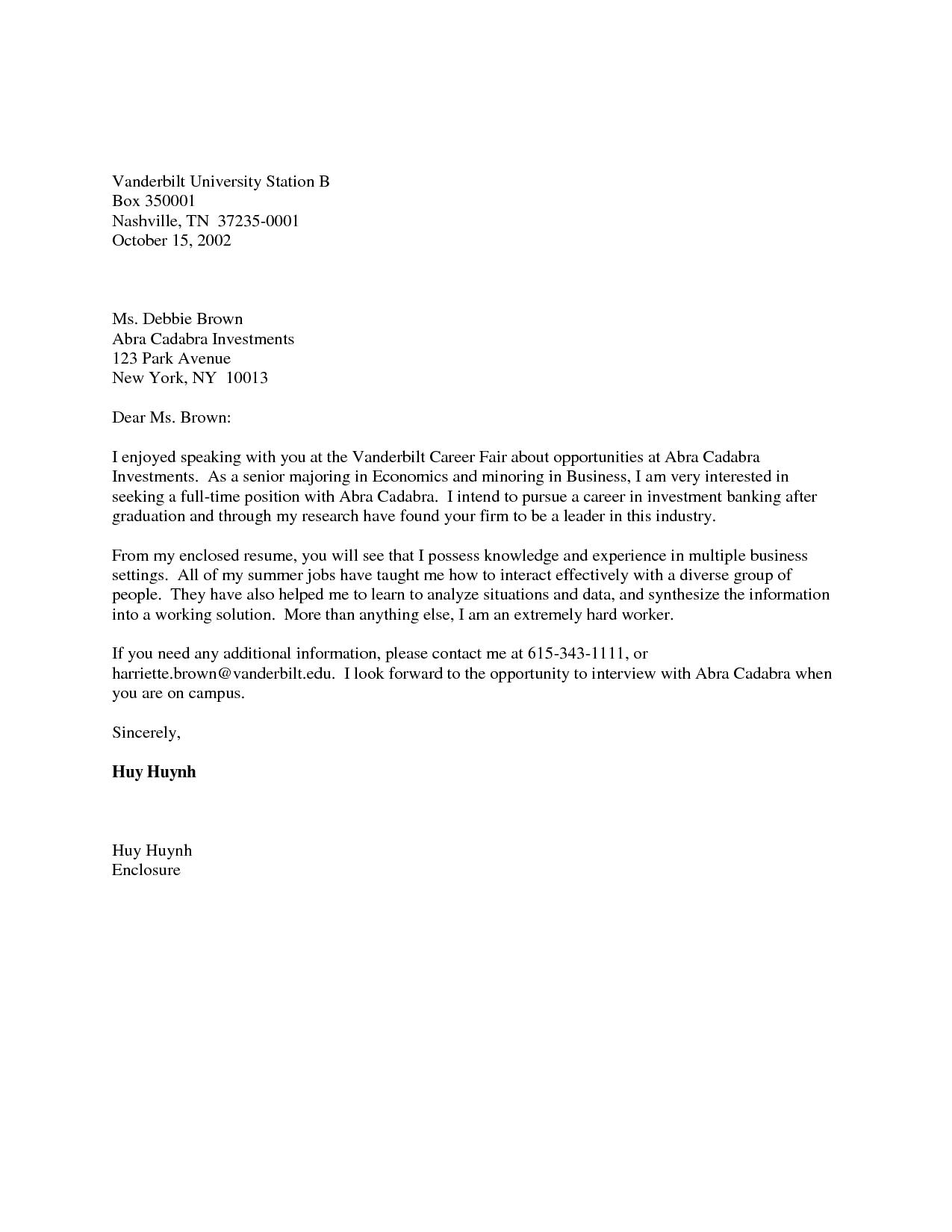 Cover Letter Sample Summer JobCover Letter Samples For