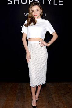 Today's Style Secret: a sleek pencil skirt a la Miranda Kerr