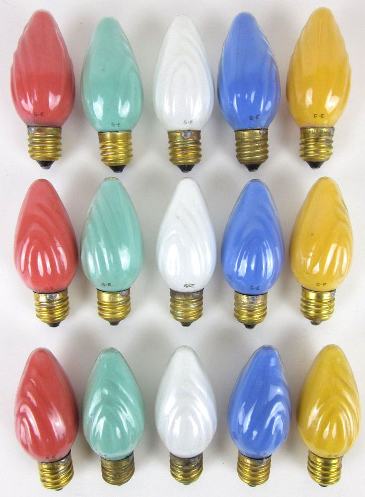 Details About Vintage Christmas Lights Ge Swirl C 9 C9 10
