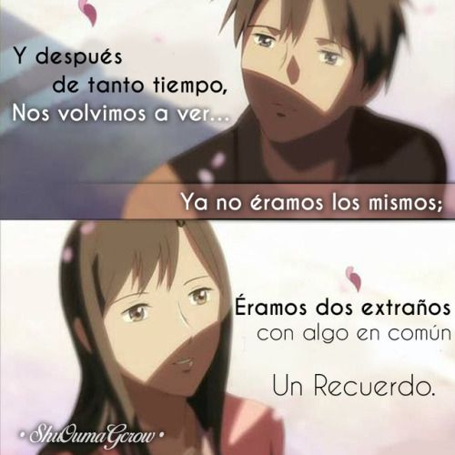 Anime Frases Anime Frases Sentimientos Shuoumagcrow Amor Cosas