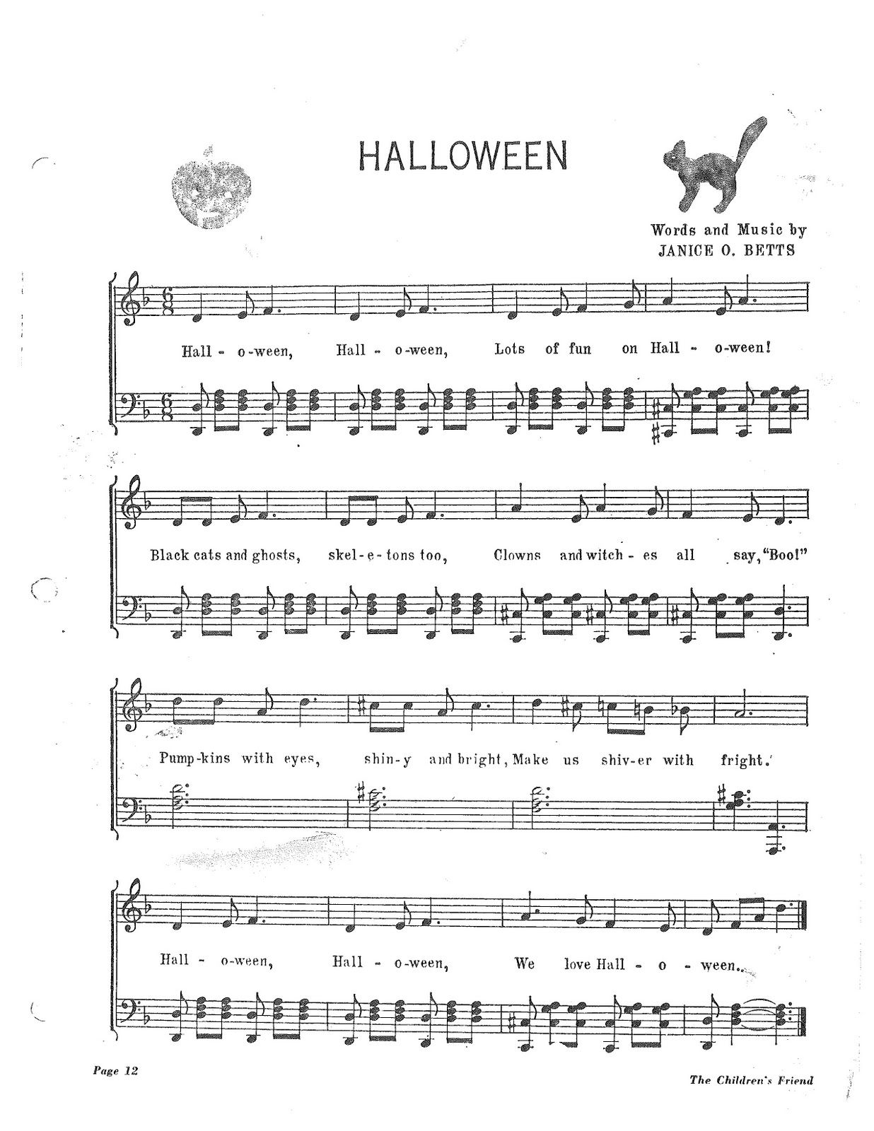 I'm a Mean Old Witch With a HAT! Halloween! (Both songs) There's ...