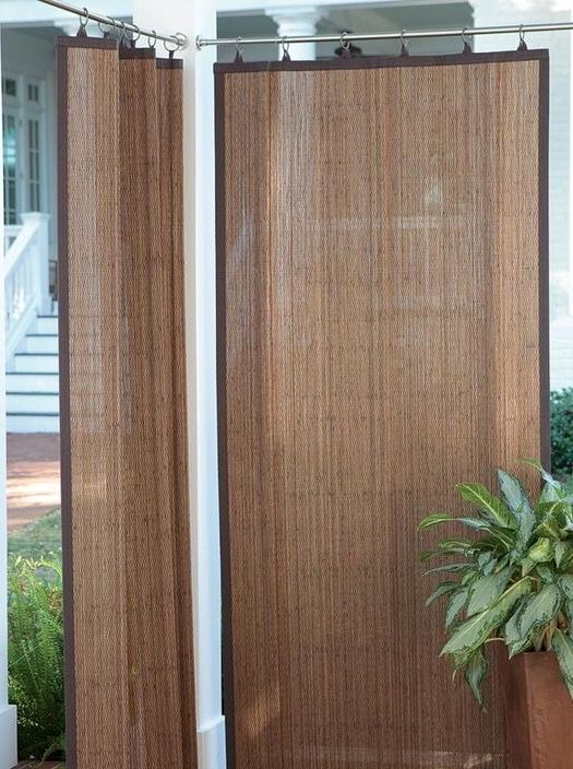How Weatherproof Outdoor Bamboo Curtains Patio Shade Outdoor Curtains