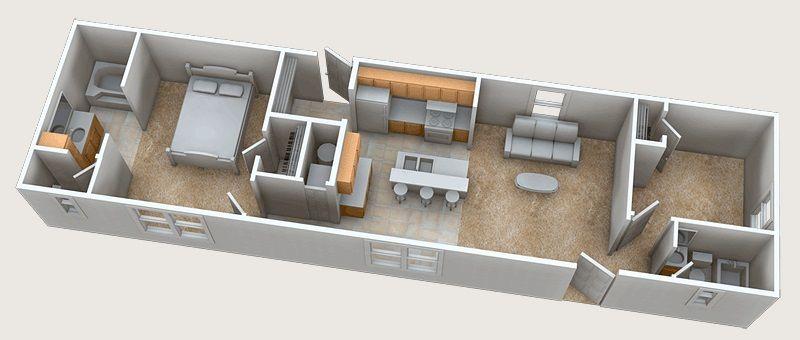 Planos casas de madera prefabricadas plano casa de 3 x for Disenos departamentos pequenos planos
