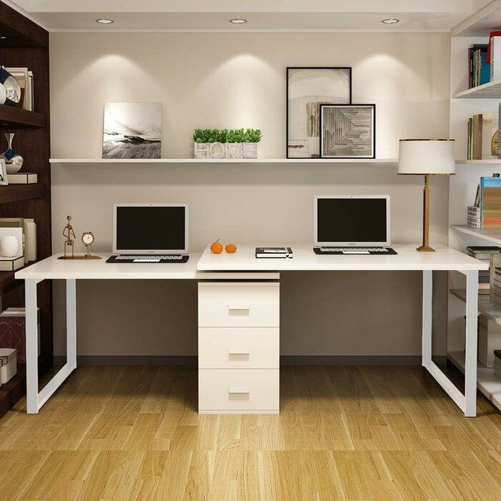 30 Inspiring Double Desk Home Office Design Ideas Cheap Office