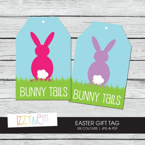 Printable easter tag bunny tails easter gift tag printable printable easter tag bunny tails easter gift tag by izzyandem negle Choice Image
