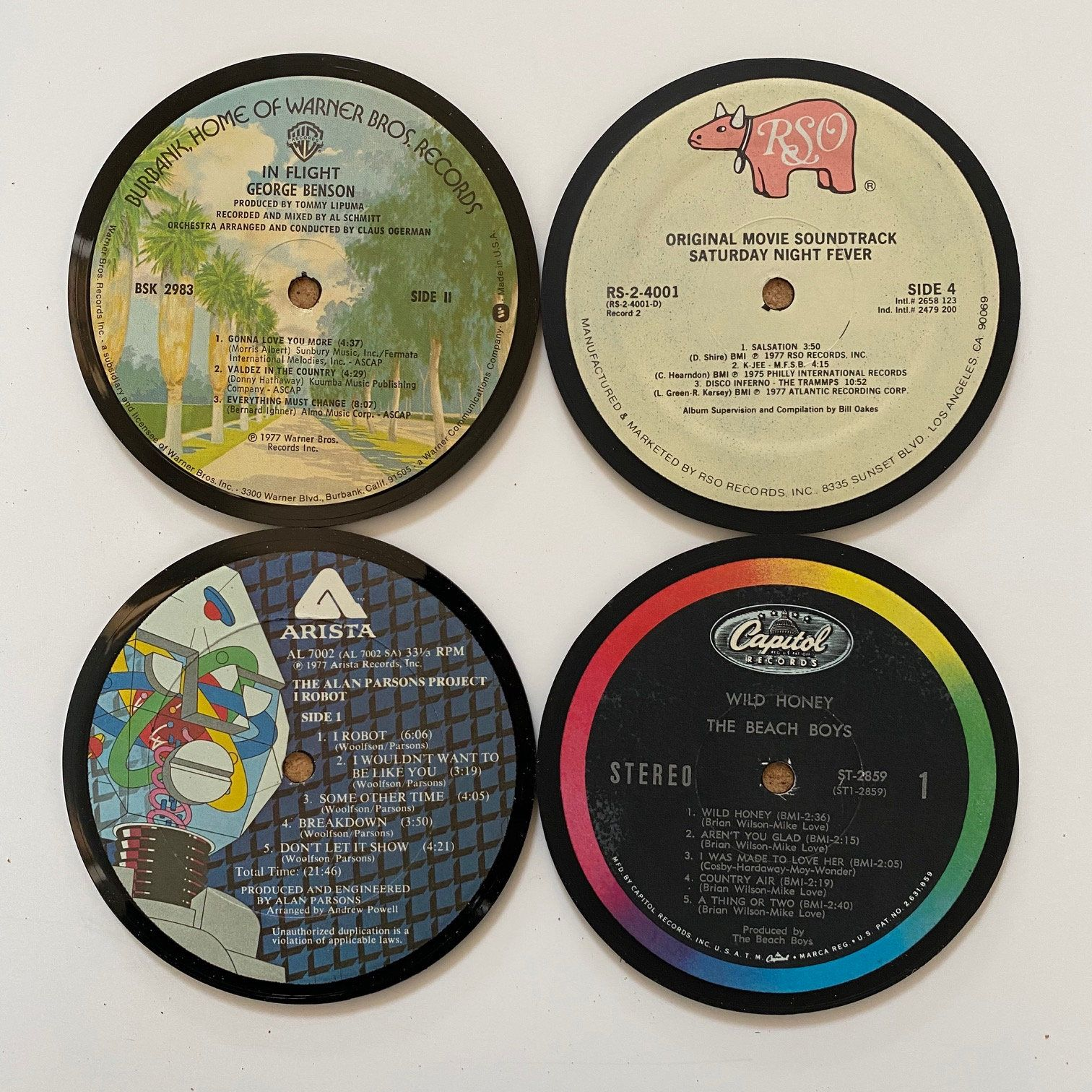 Excited To Share The Latest Addition To My Etsy Shop Vinyl Record Coaster Set 4 Https Etsy Me 2skyruq In 2020 Led Zeppelin Vinyl Vinyl Record Art Vinyl Records