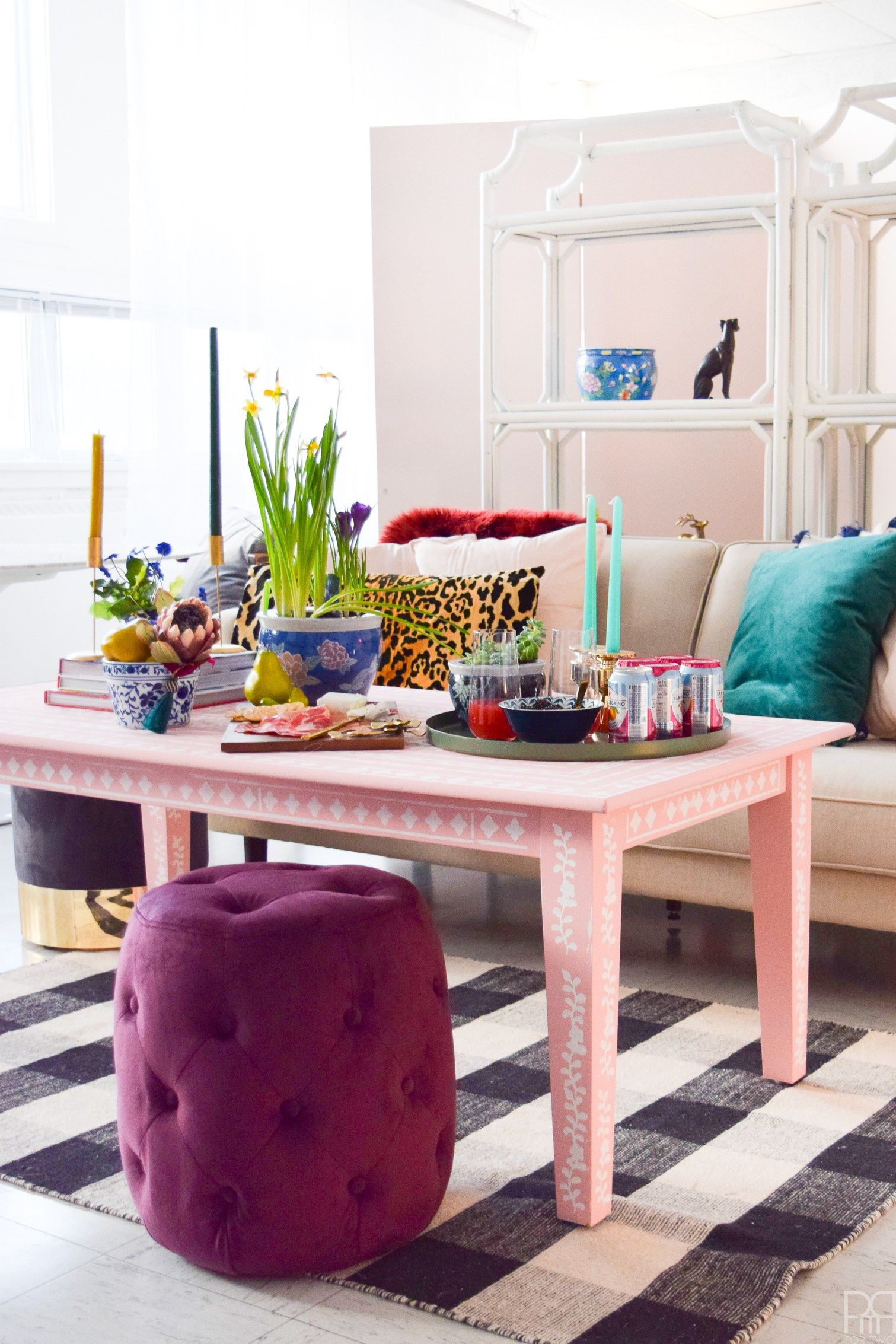 Delightful Paint Yourself A DIY Bone Inlay Coffee Table Using The Most Luxurious Chalk  Paint You Can Find. FAT Paint Goes On Smoothly And Is A Dream To Stencil  With.