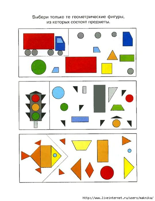 Welke vormen vind je niet terug in de afbeelding?