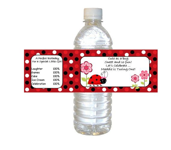 Personalized Lady Bug waterpoof Water by ...